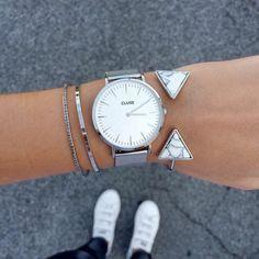 7eef2a796e3 Look do Dia in Colorful Girl Relógio e pulseiras cor prata  Clique para ver  look