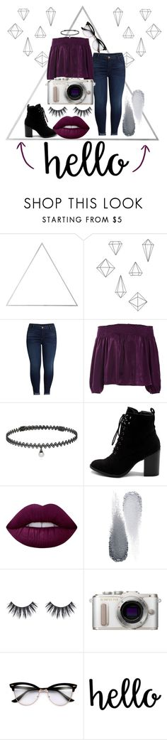 """H e l l o 💜"" by fionna-marshall-lee ❤ liked on Polyvore featuring Menu, Umbra, KUT from the Kloth, Sans Souci, BERRICLE, Ollio, Lime Crime, Clé de Peau Beauté and PL8"