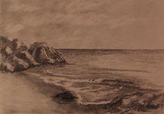 Rocky+Beach+Pencil+Drawing+by+TylersArtShack.deviantart.com+on+@deviantART