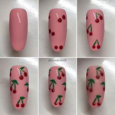 nail designs easy step by step - nail designs easy & nail designs easy simple & nail designs easy step by step & nail designs easy classy & nail designs easy diy & nail designs easy cute & nail designs easy acrylic & nail designs easy short Simple Nail Art Designs, Diy Nail Designs, Acrylic Nail Designs, Acrylic Nails, Food Nail Art, Fruit Nail Art, Cute Nail Art, Cute Nails, Easy Nail Art
