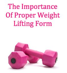 Weight Lifting Form Many people struggle with good form when it comes to weight lifting. This is a big problem because bad form can lead to injuries and poor results