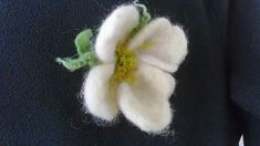 Wanilia boho flower, hair pin or brooch Boho Wedding, Hair Pins, Brooch Pin, Unique Gifts, Wool, Felting, Brooches, Earrings, Flowers