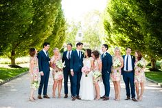 Photography : W Studios New York | Bridesmaids Dresses : Liza Emanuele | Groomsmen Attire : J. Crew | Venue : Bedell Cellars Winery Read More on SMP: http://www.stylemepretty.com/new-york-weddings/cutchogue/2016/03/18/colorful-summer-wedding-at-bedell-cellars/