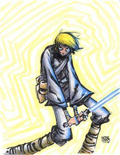 Star Wars - Luke Skywalker by Skottie Young