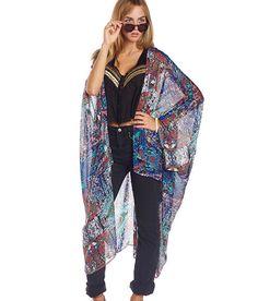 MultiColor Sheer Kimono  Disco Dancer Dark by Phraseologyla, $45.00