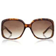 Gucci Tortoise shell oversized sunglasses ($215) ❤ liked on Polyvore featuring accessories, eyewear, sunglasses, brown, oversized glasses, tortoise shell glasses, brown sunglasses, brown gradient sunglasses and over sized sunglasses
