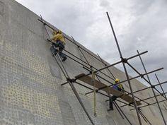 Preparación del muro para colocar las cerámicas.Comencé a trabajar en ésta obra  2007 y se terminó en 6 de marzo 2009 febrero