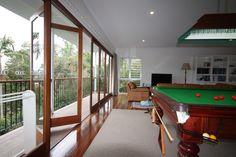 Bifold Doors, living and billard room extension.