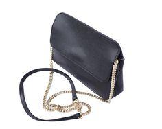 Černá kožená crossbody kabelka Florence Angelo