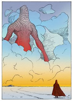 Life ask to death why people like me and hates you Death replied you are a beautiful lie and I am a painful truth Jean Giraud, Comic Books Art, Book Art, Illustrations, Illustration Art, Moebius Art, Character Art, Character Design, Graphic Novel Art