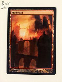 Mountain - Full Art Land - MTG Alter - Revelen's Light Altered Art Magic Card