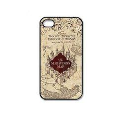Mapa Harry Potter série de filmes padrão do Maroto de plástico rígido caso capa para o iPhone 4/4S – BRL R$ 10,68