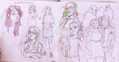 Cartoon Art Styles, Cartoon Drawings, Art Drawings, Sketchbook Inspiration, Art Sketchbook, Character Drawing, Character Design, Kawaii Sweater, Cat Sketch