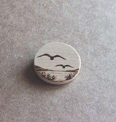 Faraway by Aijoku on DeviantArt Wood Slice Crafts, Wood Burning Crafts, Wood Burning Patterns, Wood Burning Art, Wood Crafts, Diy Wood, Diy Crafts, Pyrography Patterns, Pyrography Ideas