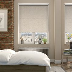 Blomma Kiwi Roman Blind from Blinds Natural Roman Blinds, House Blinds, Blinds For Windows, Window Blinds, Stairs Window, Cortinas Rollers, Vertical Blinds Cover, Houses, Cordoba