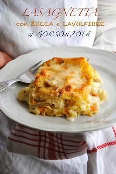 Lasagnetta con zucca e cavolfiore al gorgonzola