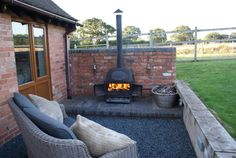 Outside Log Burner