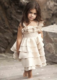 """Evie says: """"Because it has a pretty bow on the top and the ruffles on the skirt."""""""