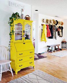 Painted secretary desk. Stephanie |Casa Watkins Living on Instagram