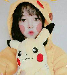 Cosplay Anime, Cosplay Kawaii, Cosplay Girls, Cute Korean Girl, Asian Girl, Japonese Girl, Pikachu, Kawaii Makeup, Uzzlang Girl