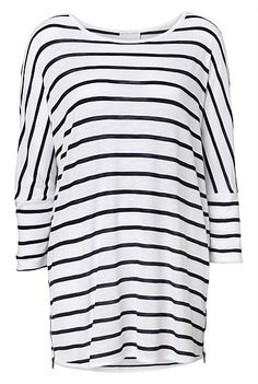 New In | Women's Clothing | Witchery Online - Stripe Batwing Tee