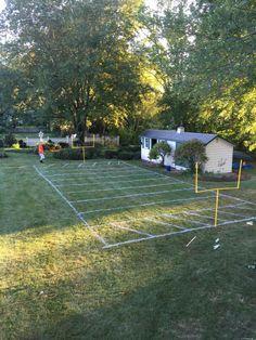Backyard football field