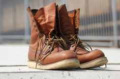 worn in red wing heritage 877 classic moc boots