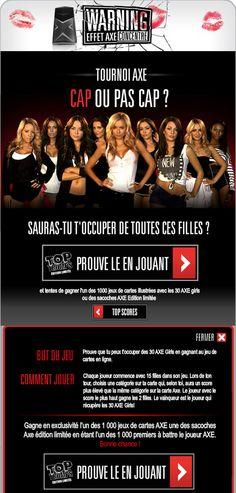 Jeu concours Axe 2011 sur #Facebook
