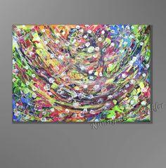 Malerei & Collagen - Gemälde Acrylbild Abstrakt Leinwand Unikat Neu - ein Designerstück von A-Winkler bei DaWanda  http://de.dawanda.com/shop/A-Winkler
