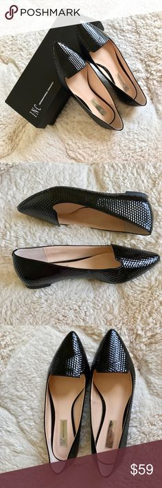 INC Patent Flats INC Aadi black patent flats. Made exclusively for Macy's. Worn only once for the indoors event. No signs of wear, like new. True to size. Selling because these flats are a little wide for my narrow feet. INC International Concepts Shoes Flats & Loafers