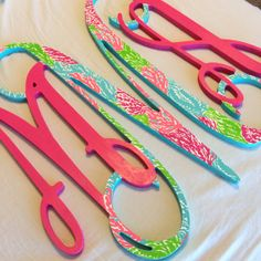 18 Inch Hand Painted Lilly Pulitzer Wooden by CraftingCollegeGirl