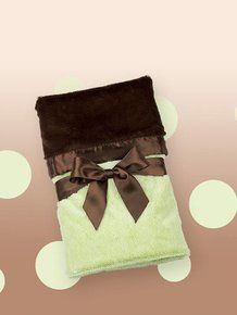 Bearington Baby Silky Soft Security Blanket (Kiwi). Available at OurPamperedHome.com