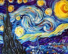 Art: Reproduction Van Gogh Starry Night by Artist Judith D. Porto