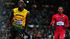 Usain Bolt of Jamaica wins GOLD and sets new Olympic record 2012 Olympics Usain Bolt, Olympic Records, Olympic Committee, Team Gb, Keep Swimming, Tokyo 2020, 100m, Track And Field, Jamaica