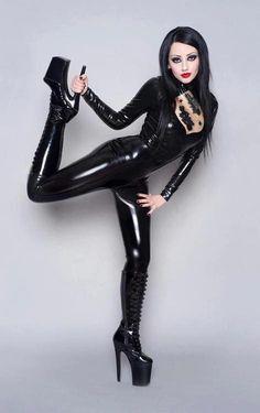Black leather fetish tgp