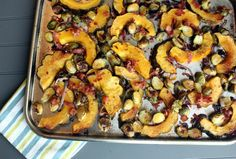 Roasted Acorn Squash & Brussels Sprouts  @Fresh4Five