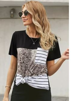 Take comfort with our Ultimate T with Snake, this will be the perfect tee for any occasion. It feature Snake mixed with stripes to make a statement. This is a good choice to replace all your old tees in your wardrobe. Pair it with shorts or skinny jeans for a weekend at the Kruger National Park. Blouses For Women, Pants For Women, T Shirts For Women, Half Sleeves, Camo, Skinny Jeans, Tees, How To Wear, Relax Relax