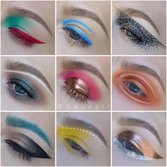 Energy is always bursting through Marie's work. Each look beams with a rich assortment of hues as she makes careful color choices that seem to almost bounce off the page. More: http://blog.furlesscosmetics.com/dausell/