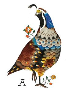 Quail Print by Loyalscout on Etsy, $10.00