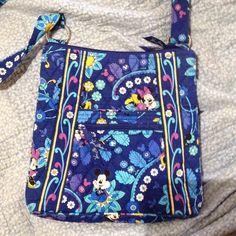 Vera Bradley Disney hipster Blue, floral Mickey and Minnie Mouse Vera Bradley by Disney hipster excellent condition Vera Bradley Bags Crossbody Bags