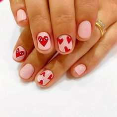 Happy Valentines Day Nails For Your Romantic Day Valentine's Day nails;Valentine's Day nails; Heart Nail Designs, Valentine's Day Nail Designs, Acrylic Nail Designs, Nails Design, Heart Nail Art, Heart Nails, May Nails, Rose Nails, Purple Nails