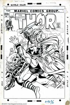 Gil Kane and Vince Colletta - Original Cover Art for Thor #201 (Marvel, 1972)