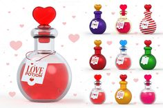 Check out Love Potion 3D by pixaroma on Creative Market