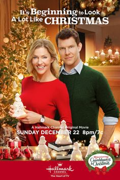 Its a Wonderful Movie - Your Guide to Family and Christmas Movies on TV: It's Beginning to Look A Lot Like Christmas - a Hallmark Channel Countdown to Christmas Movie starring Eric Mabius and Tricia Helfer! Family Christmas Movies, Hallmark Christmas Movies, Christmas Shows, Holiday Movie, Christmas 2019, England Christmas, Christmas Poster, Family Movies, Xmas