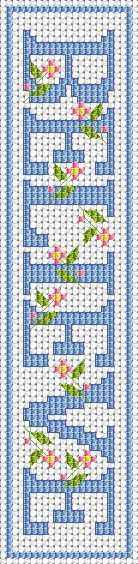 BELIEVE Bookmark free cross stitch pattern