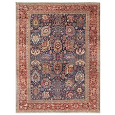 Antique Large Sultanabad   See more antique and modern Persian Rugs at https://www.1stdibs.com/furniture/rugs-carpets/persian-rugs