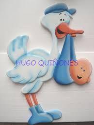 Resultado de imagen para cigueñas baby shower para colorear