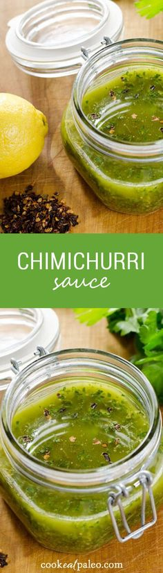 Chimichurri sauce is a great sauce for grilled steak or chicken. It's quick and easy to put together. And it's gluten-free, dairy-free and paleo.