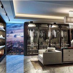 Super Dress Room Closet Walk In Wardrobe Ideas Walk In Closet Design, Closet Designs, Luxury Closet, Dream Closets, Closet Bedroom, My Dream Home, Home Interior Design, Luxury Homes, Luxury Apartments