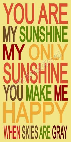 STENCIL ITEM 6089 You Are My Sunshine